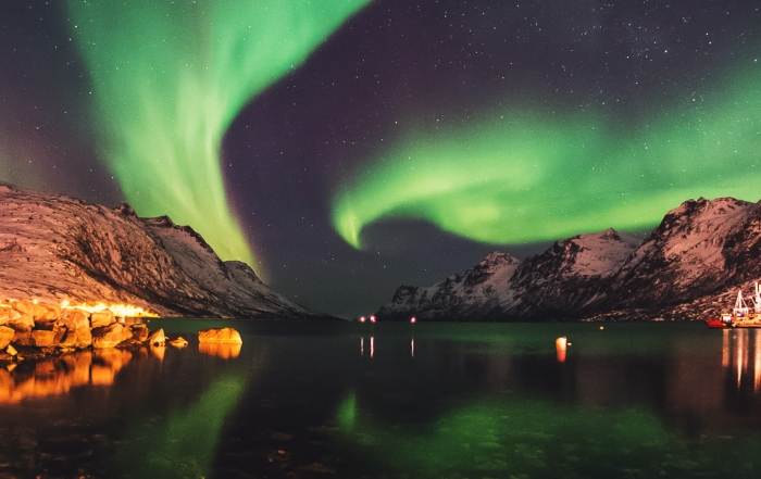 Aurora Borealis in Ersfjordbotn por John A Hemmingsen